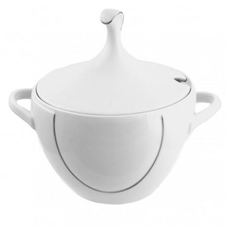 Soupière Pierre de Lune en porcelaine, service complet en porcelaine, art de la table et inspiration