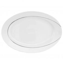 Plat 33 cm ovale en porcelaine - Pierre de Lune