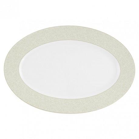 Plat ovale 36 cm Corète du Japon en porcelaine
