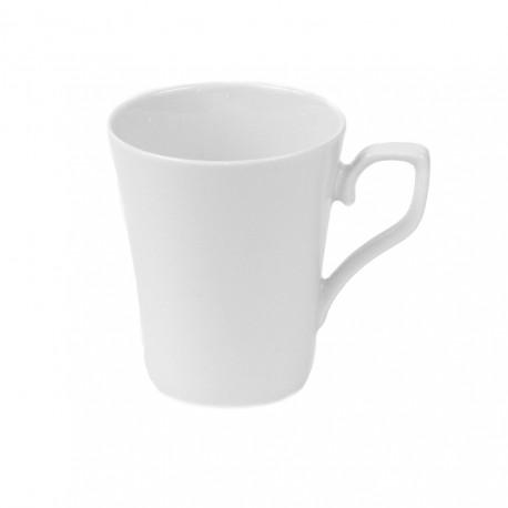 Tasse à thé haute mlug 300 ml Viorne en porcelaine blanche