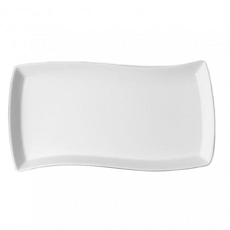 Plat rectangulaire 35 cm Brise Angélique en porcelaine