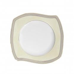 Assiette plate 22 cm (25 cm diagonale) Élégance en porcelaine