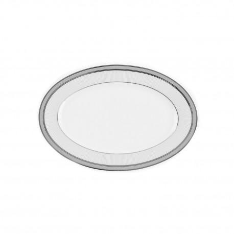ravier en porcelaine avec galon de platine, service de vaisselle complet en porcelaine