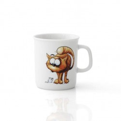 Mug 220 ml Oeillet en porcelaine motif chat
