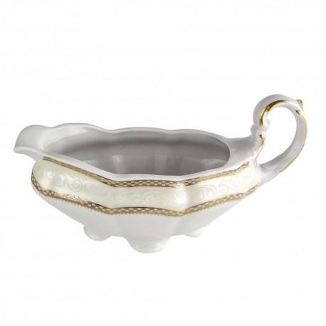 service complet en porcelaine, art de la table, Saucière 500 ml en porcelaine Impression Chatoyante