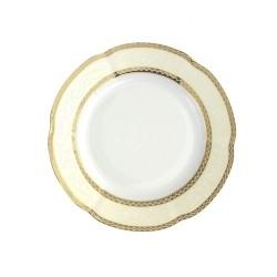 Assiette dessert 19 cm ronde plate en porcelaine - Impression Chatoyante