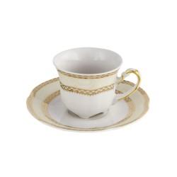 service complet en porcelaine, Tasse à café 100 ml avec sa soucoupe Impression Chatoyante