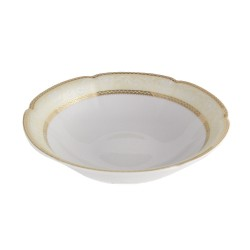 service complet en porcelaine, art de la table, Saladier 23 cm rond en porcelaine Impression Chatoyante