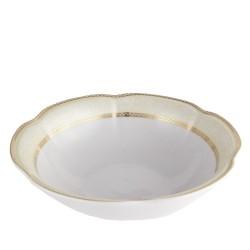 Saladier 26 cm rond en porcelaine blanche Impression Chatoyante