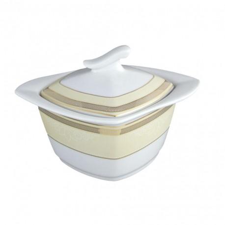 Sucrier en porcelaine avec galon d'or, service de vaisselle en porcelaine de grande qualité