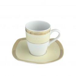 Tasse 100 ml avec soucoupe Elegance en porcelaine