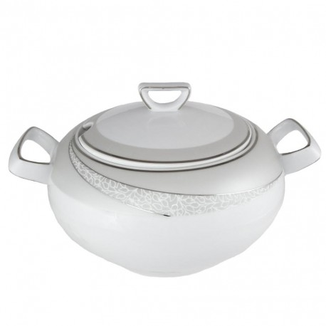 Soupière 3 l avec couvercle Cristal Eternel en porcelaine, service de vaisselle en porcelaine