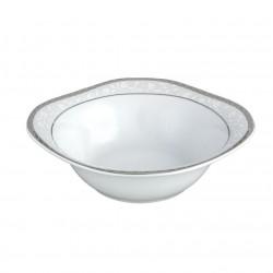 Saladier carré 20 cm Bosquet Argenté en porcelaine
