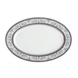 service de table en porcelaine blanche, vaisselle galon platine, ravier