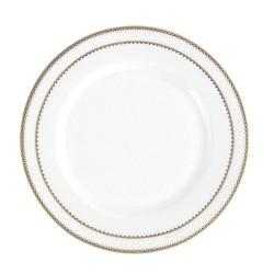 Assiette plate ronde à aile 21 cm Bohémienne en porcelaine