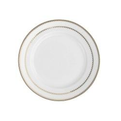 Assiette plate ronde à aile 17 cm Bohémienne en porcelaine