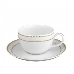 Tasse à thé 250 ml avec soucoupe en porcelaine Bohémienne