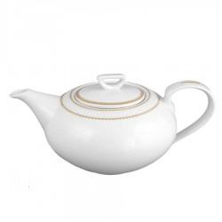 Théière 1100 ml avec couvercle en porcelaine Bohémienne
