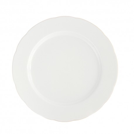 art de la table, service de table complet en porcelaine blanche, vaisselle galon or, assiette plate en porcelaine