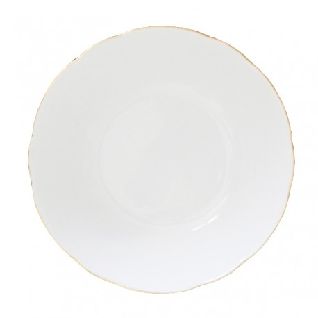 art de la table, service de table complet en porcelaine blanche, vaisselle galon or, coupelle en porcelaine
