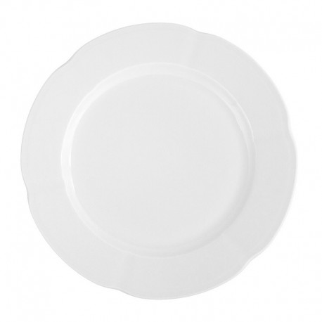 service de table complet, vaisselle en porcelaine blanche, assiette 27 cm ronde plate, art de la table