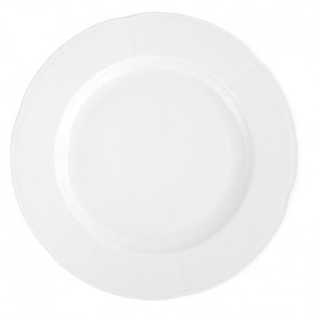 service de table complet, vaisselle en porcelaine blanche, plat de service rond 32 cm, art de la table