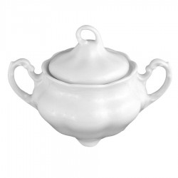 service de table complet, vaisselle en porcelaine blanche, sucrier 300 ml, art de la table
