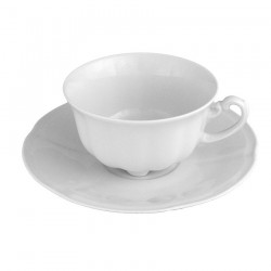 service de table complet, vaisselle en porcelaine blanche, tasse à thé 220 ml, art de la table