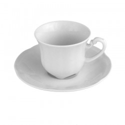 service de table complet, vaisselle en porcelaine blanche, tasse à café 100 ml, art de la table