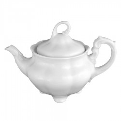 service de table complet, vaisselle en porcelaine blanche, théière 1100 ml, art de la table