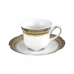 service de table complet, vaisselle en porcelaine, tasse à café 100 ml avec soucoupe, art de la table