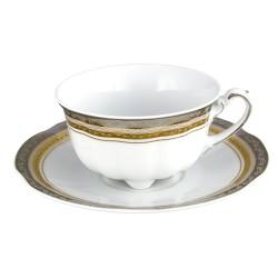 service de table complet, vaisselle en porcelaine, tasse à thé 220 ml avec soucoupe, art de la table