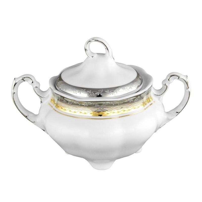 Sucrier en porcelaine blanche d cor e 300 ml onirique - Art de la table vaisselle ...