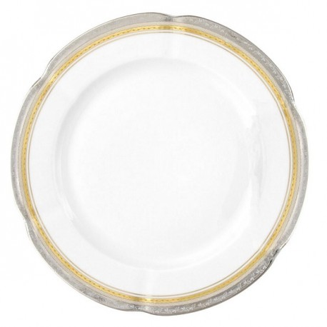 service de table complet, vaisselle en porcelaine véritable, assiette ronde plate 27 cm, art de la table
