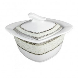 service de table complet, vaisselle en porcelaine blanche galon platine, sucrier 250 ml, art de la table