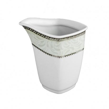 service de table complet, vaisselle en porcelaine blanche galon platine, crémier 180 ml, art de la table