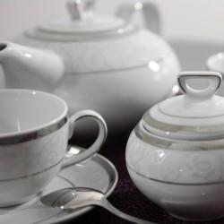 Service à thé en porcelaine Jardin Secret