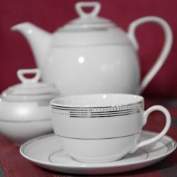 Service à thé en porcelaine Noces Céléstes