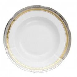 Assiette 22,5 cm ronde creuse en porcelaine - Onirique