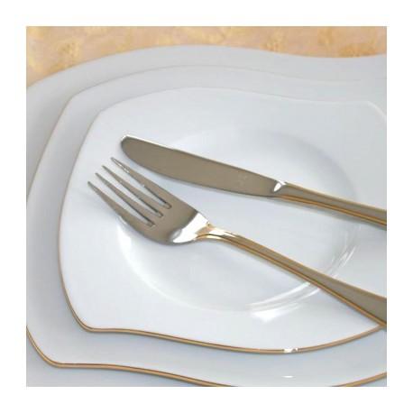 Service de table complet Nuage aux liserés dorés 21 pièces