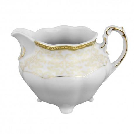 Crémier 350 ml, service de table en porcelaine blanche décorée de galon d'or - Soleil Levant