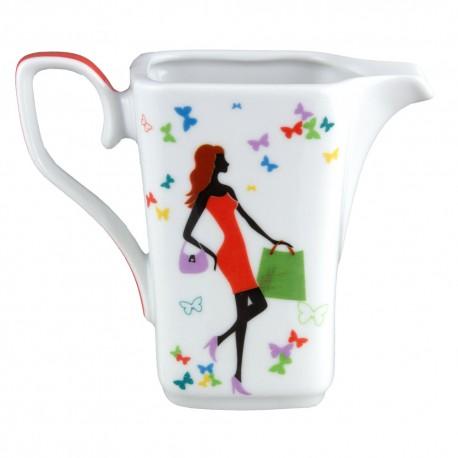 art de la table, service de vaisselle en porcelaine, crémier 300 ml Jolie Demoiselle
