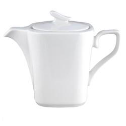 art de la table, service à thé, théière 1,1 l Viorne en porcelaine blanche