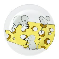 art de la table, service pour enfant, assiette plate 19 cm Souricette en porcelaine