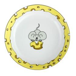 Assiette creuse 19 cm Souricette en porcelaine