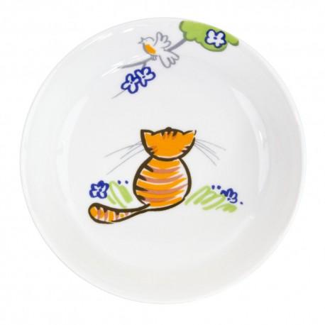 art de la table, set en porcelaine pour enfant, assiette creuse 19 cm en porcelaine Chat Joueur motif chat