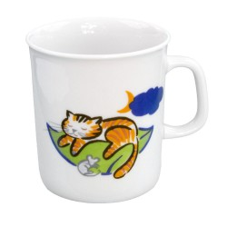 Mug 220 ml Chat joueur en porcelaine motif chat