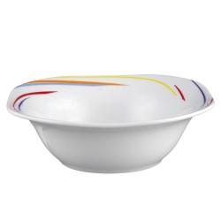 art de la table, service de table en porcelaine, saladier carré 20 cm Tourbillon Fruité en porcelaine