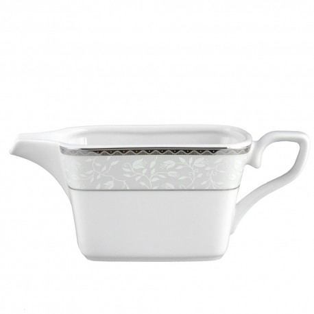 art de la table, service de table complet, vaisselle en porcelaine, saucière 500 ml Bosquet Argenté en porcelaine