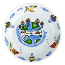 Assiette creuse 19 cm Bleuet en porcelaine